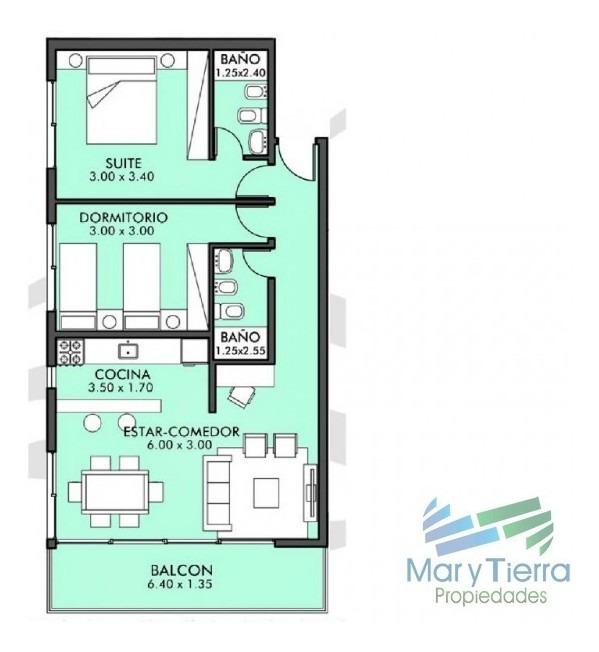 apartamento en aidy grill, 2 dormitorios *-ref:1228