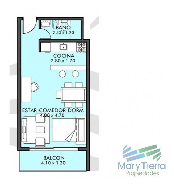 apartamento en aidy grill, monoambiente *-ref:1221