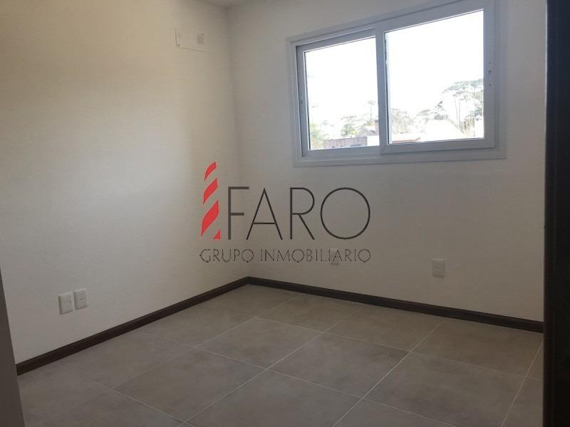 apartamento en construcción en la mansa 2 dormitorios con parrillero-ref:36840