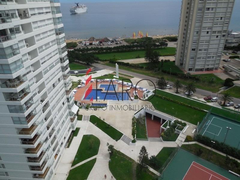 apartamento en la mansa 2 dormitorios con balcón y cochera-ref:33547