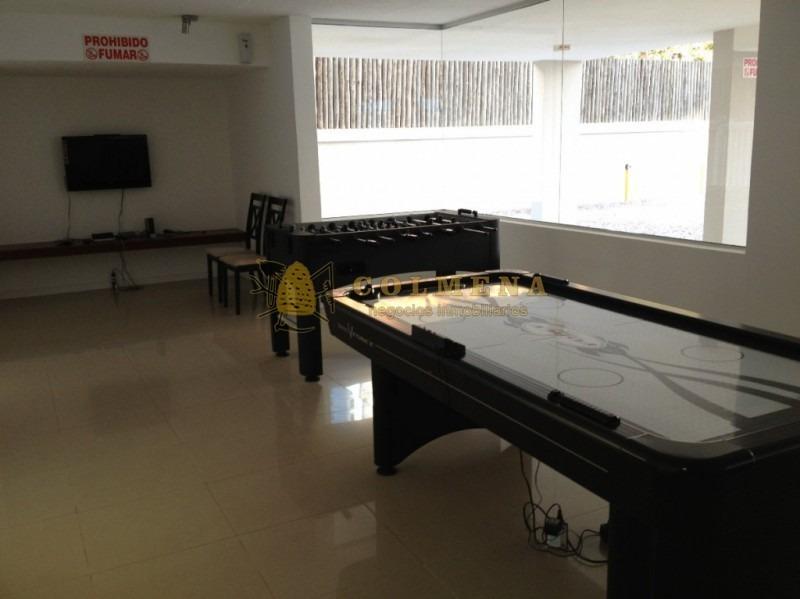 apartamento en la mansa muy buena ubicacion, de 1 dor,  baños con parrillero. consulte!!!!!!-ref:1631