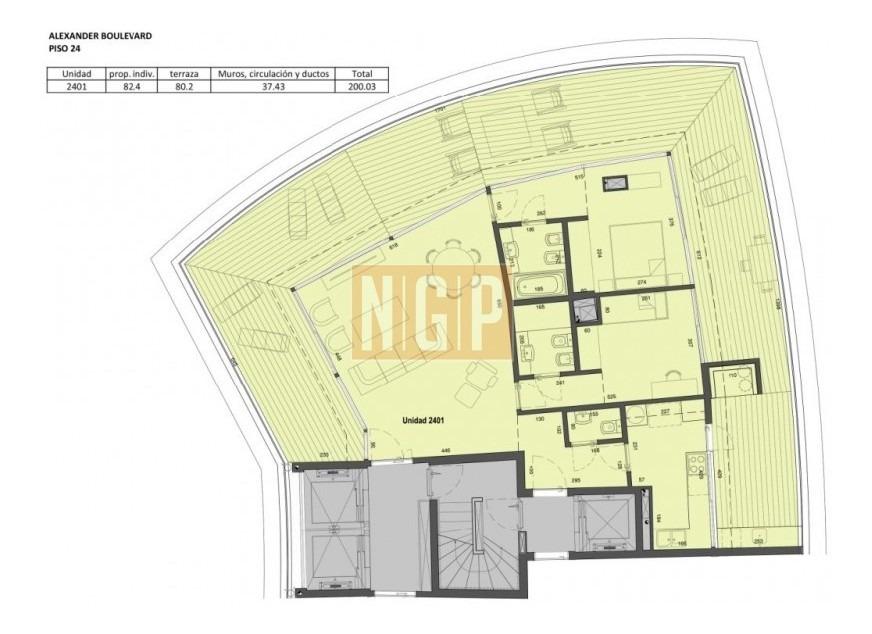 apartamento en mansa, 3 dormitorios  -ref:15897