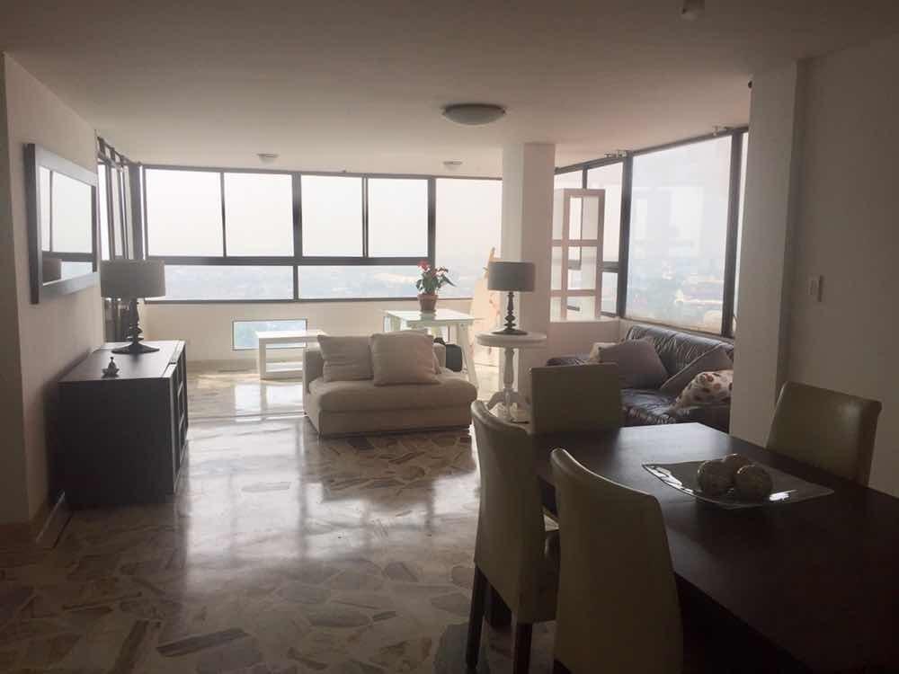 apartamento en miraflores, 120 mt , hermosa vista, piscina