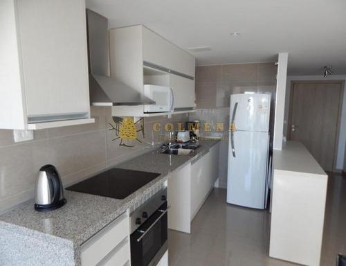 apartamento en muy buena ubicacion, de 1 dormitorio y medio , 1baños, toilete, living- comedor con linda vista. - ref: 1235