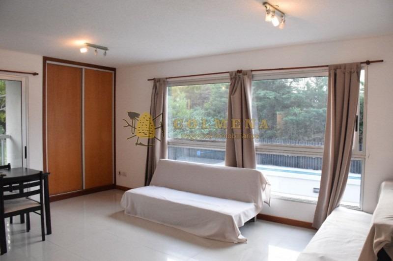 apartamento en muy buena ubicacion, monoambiente - a solo 150 mts de playa brava (parada 7), 6 cuadras del hotel conrad y 7 del punta shopping.-ref:1720