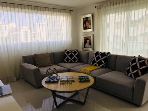 apartamento en piantini de 2 habitaciones amueblado