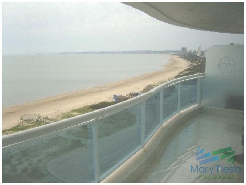 apartamento en primera línea.. .piso alto con excelente vista al mar!-ref:211
