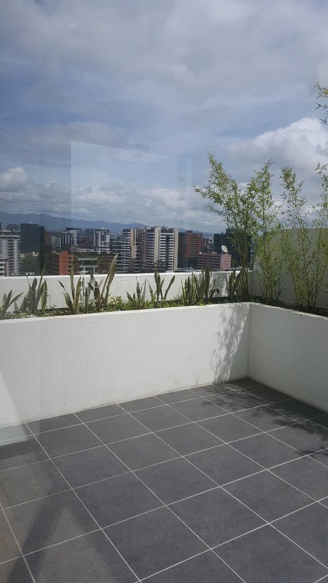 apartamento en renta zona 10 amplio balcón tipo terraza