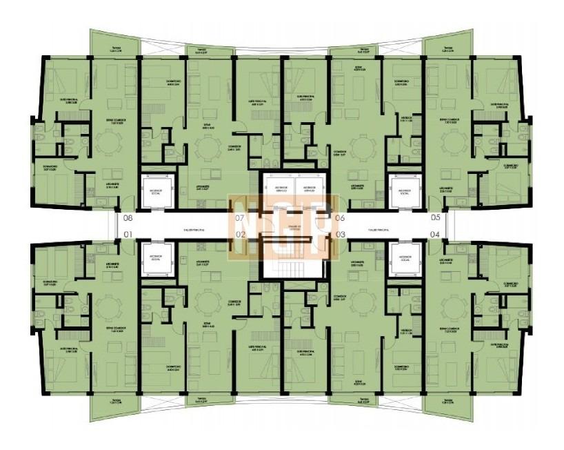 apartamento en roosevelt, 1 dormitorios *-ref:12572