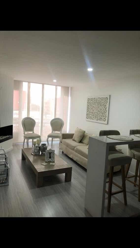 apartamento en santa bárbara 1 alcoba 2 baños, 1 garaje 50m2