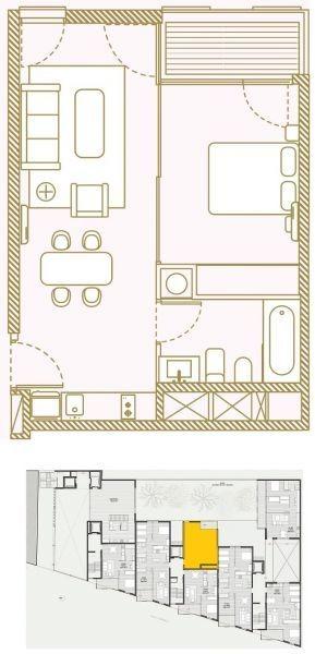 apartamento en venta de 1 dormitorio en centro