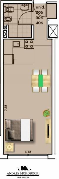 apartamento en venta de 1 dormitorio en pocitos nuevo
