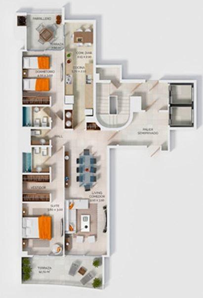 apartamento en venta de 2 dormitorios en san rafael