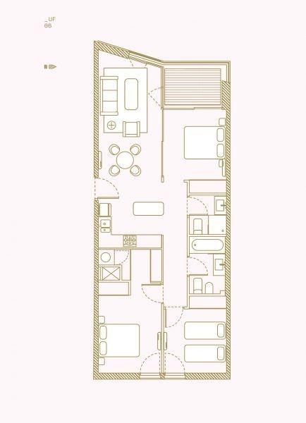 apartamento en venta de 3 dormitorios en barrio sur