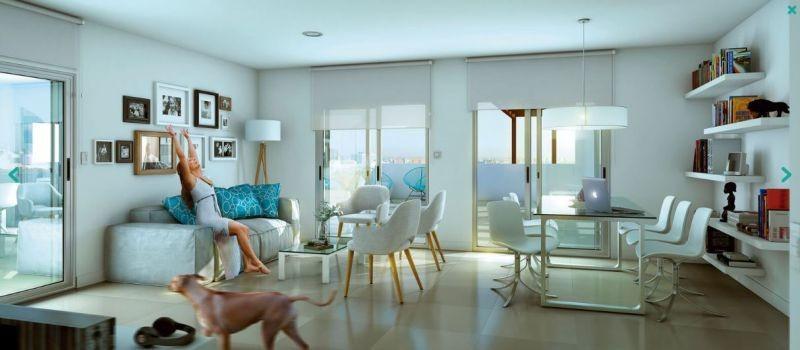 apartamento en venta de 3 dormitorios en centro