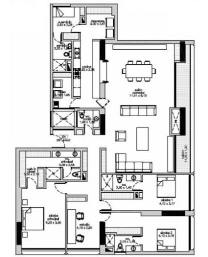 apartamento en venta el virrey 90-3411