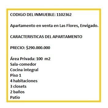apartamento en venta en las flores, envigado. codigo 1102362