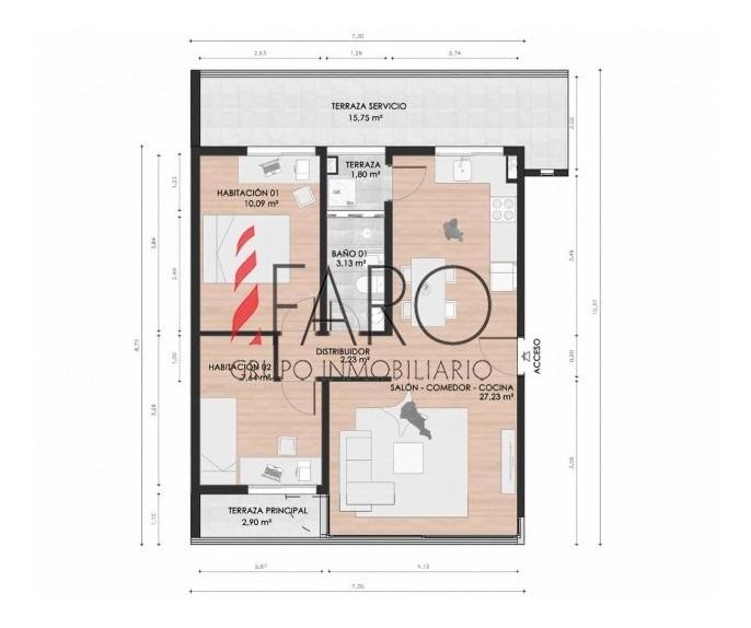 apartamento en venta en maldonado a estrenar 2 dormitorios con terraza-ref:37268