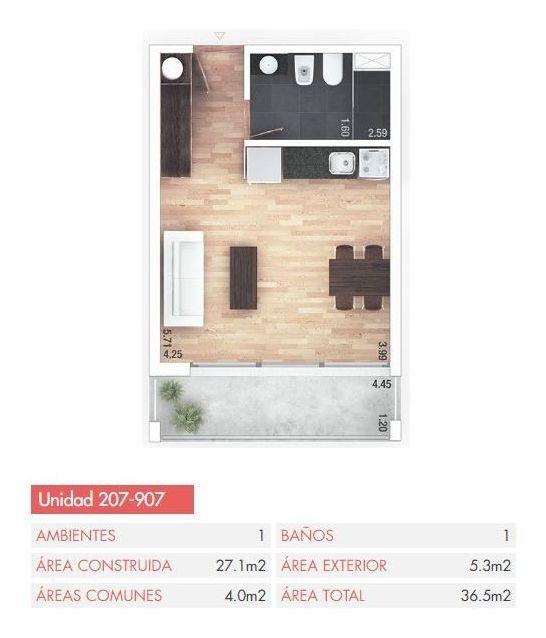 apartamento en venta - monoambiente en cordón
