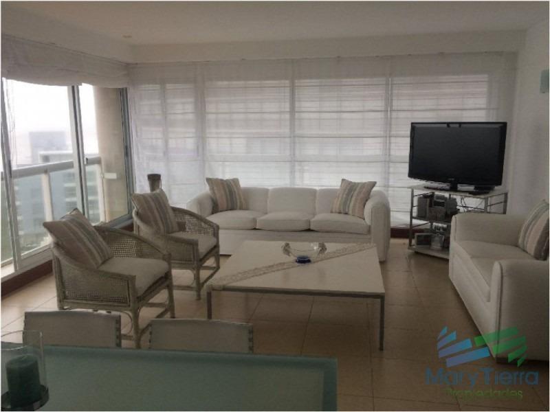 apartamento en venta, piso alto con vista al mar en peninsula, punta del este-ref:1397