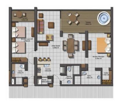 apartamento en venta pozos colorados 90-10138