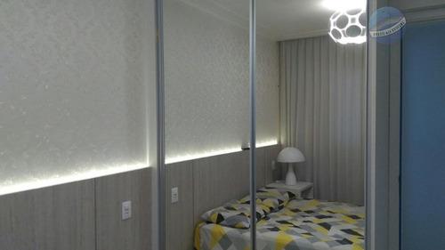 apartamento finamente mobiliado, em andar alto - viver bem - ap0141