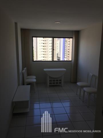 apartamento flat com 1 quarto no edf. costa do sol - vd589-v