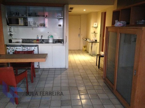 apartamento flat com 1 quarto no golden beach beira mar - lf277-v