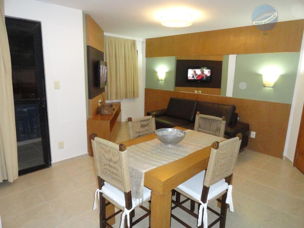 apartamento flat em ponta negra, natal, a poucos metros da praia. - fl0002