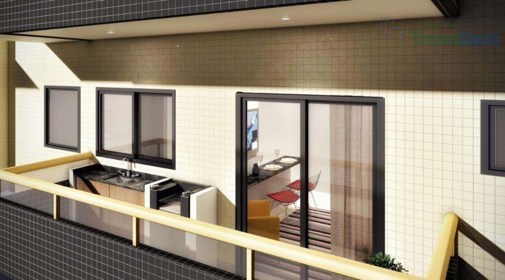 apartamento (flat) residencial à venda, boqueirão, praia grande. - ap0625