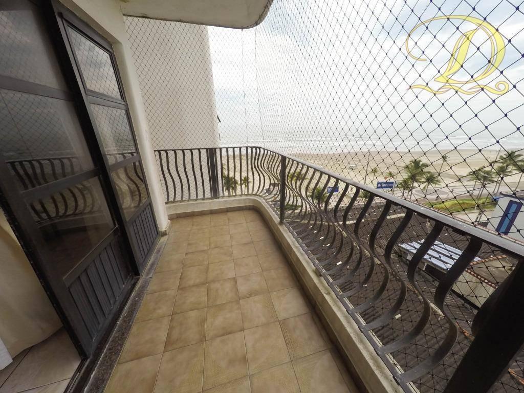 apartamento frente ao mar de 3 quartos, sacada e piscina!!! - ap2902