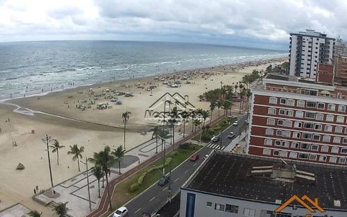 apartamento frente ao mar na tupi em praia grande