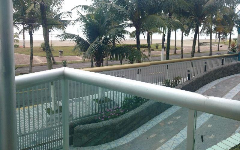 apartamento frente mar de 3 dormitórios na vila caiçara em praia grande - sp