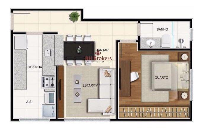 apartamento - funcionarios - ref: 19405 - v-bhb19405