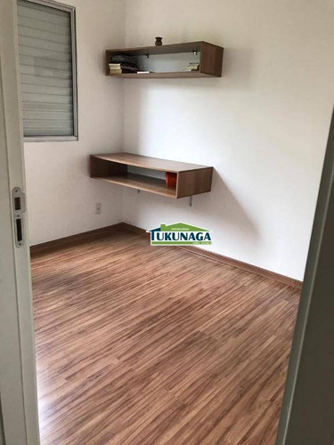 apartamento garden com 2 dormitórios para alugar, 59 m²  - vila alzira - guarulhos/sp - gd0002