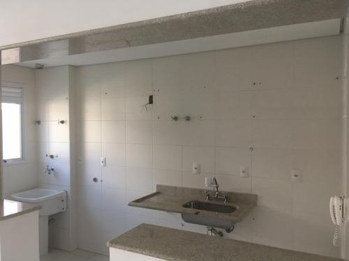 apartamento garden em santos, varanda com 60 m2, com 3 anos.