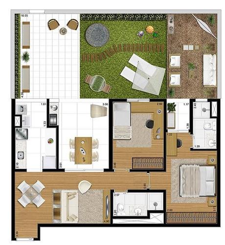 apartamento garden  residencial à venda, santo amaro, são paulo. - gd0001