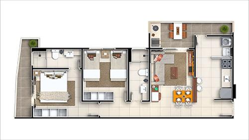 apartamento guilhermina  em praia grande - c5811