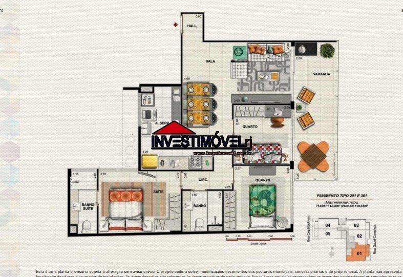 apartamento - humaita - ref: 542 - v-542