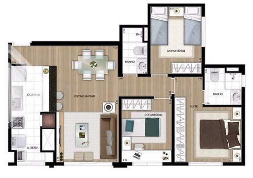apartamento - jardim carvalho - ref: 221261 - v-221261