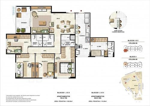 apartamento jardins do recreio - 4 quartos - 132