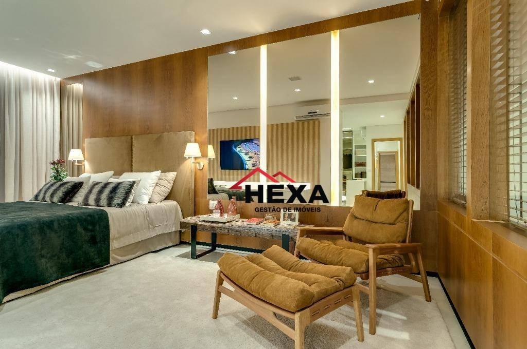 apartamento kingdom, setor nova suíça, 488 m² por r$ 3.108.000 - setor nova suiça - goiânia/go - ap0265
