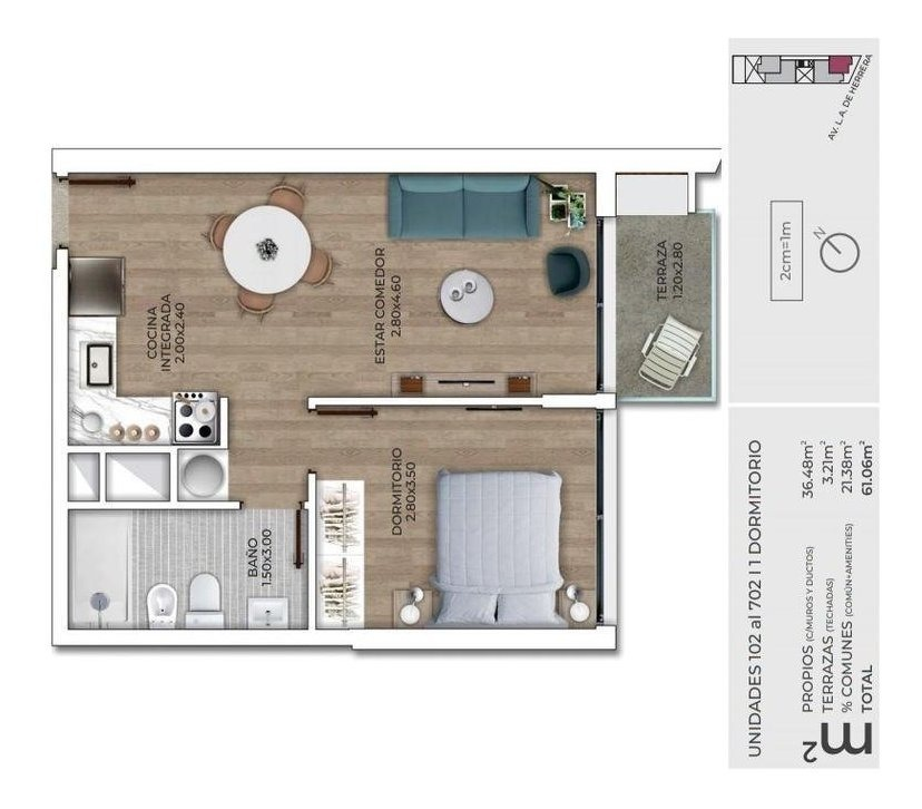 apartamento - la blanqueada - al frente, con balcón, calidad!!