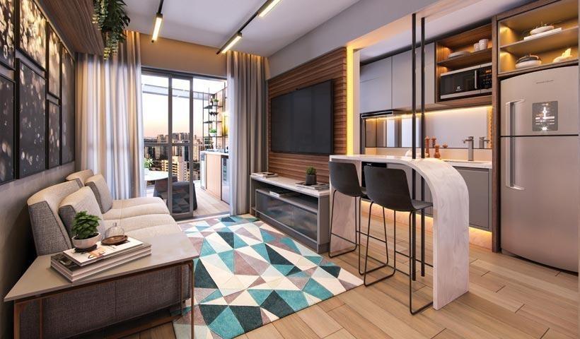 apartamento lançamento 1 dormitório com vaga no brooklin - ap13687