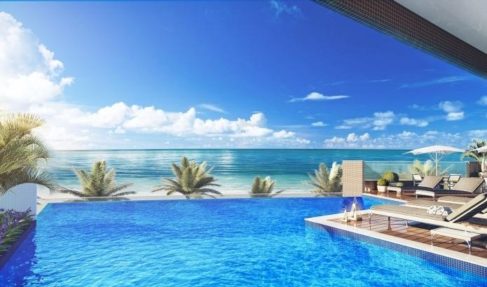 apartamento lindo com vista para o mar !!!