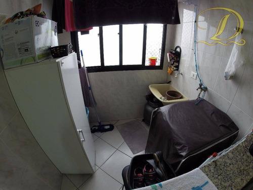apartamento lindo de 01 quarto com sacada à venda no forte, lazer completo e aceita financiamento!!! - ap2239