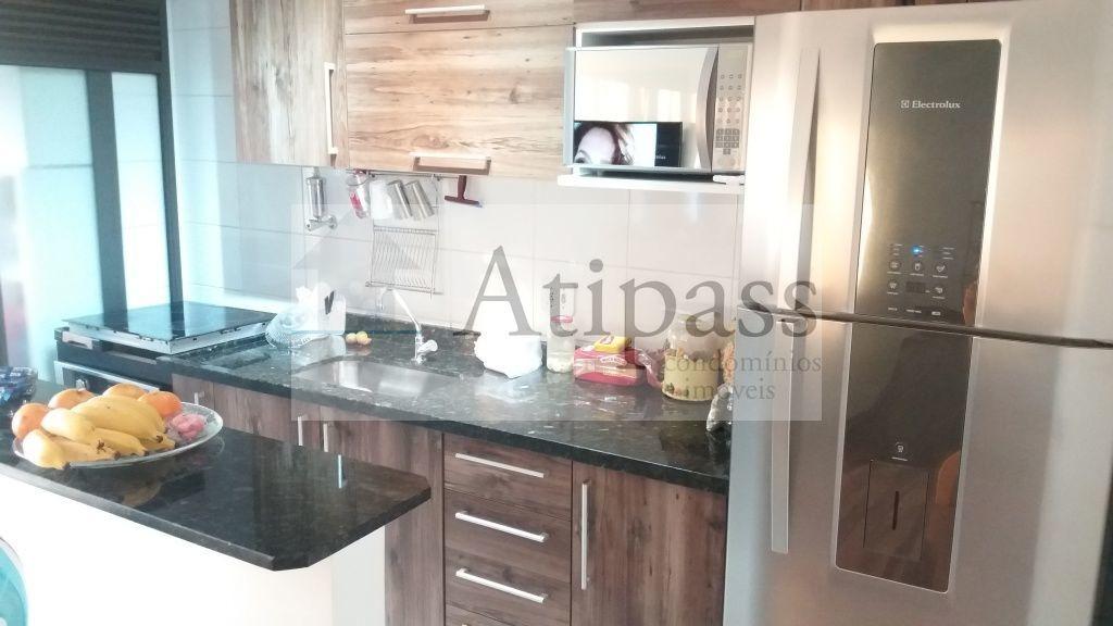 apartamento - locação em são bernardo do campo -bairro suiço, 65m²  cozinha planejada, 1 vaga fixa - at571