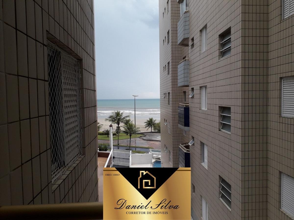 apartamento locação temporada frente para o mar com churrasq