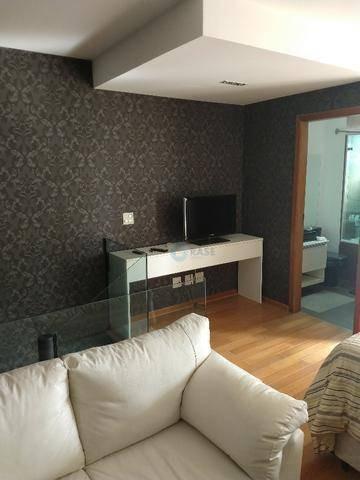 apartamento loft mobiliado  para venda 52m², 1 suíte, banheiro social, varanda, 1 vaga de garagem - lf0044