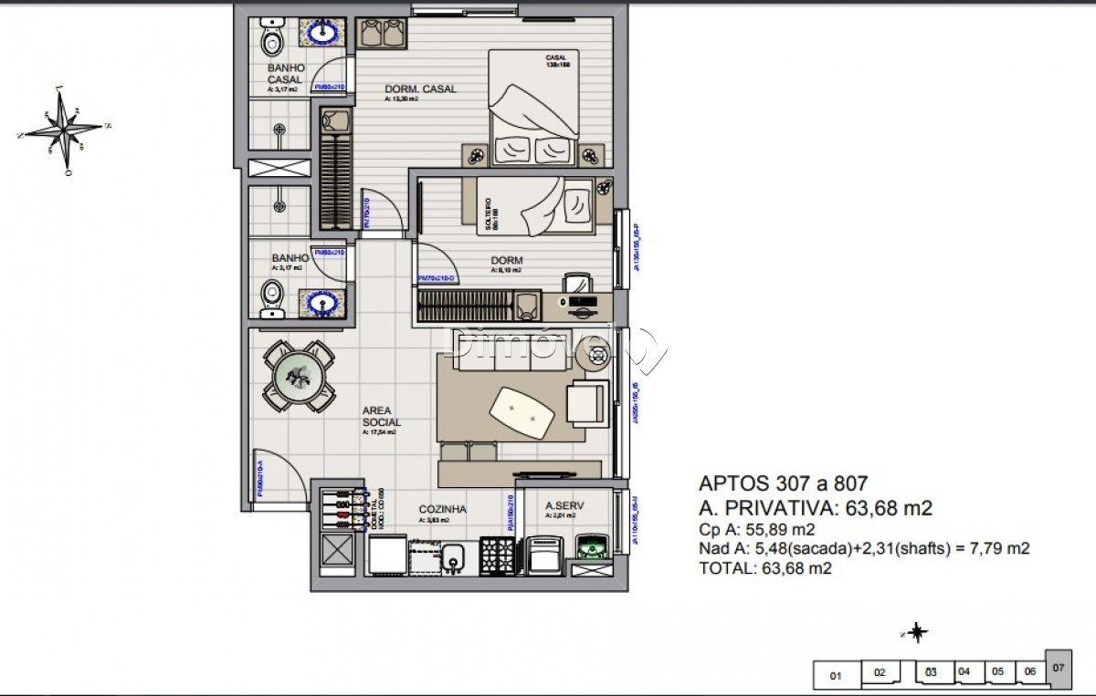 apartamento - menino deus - ref: 12202 - v-12202